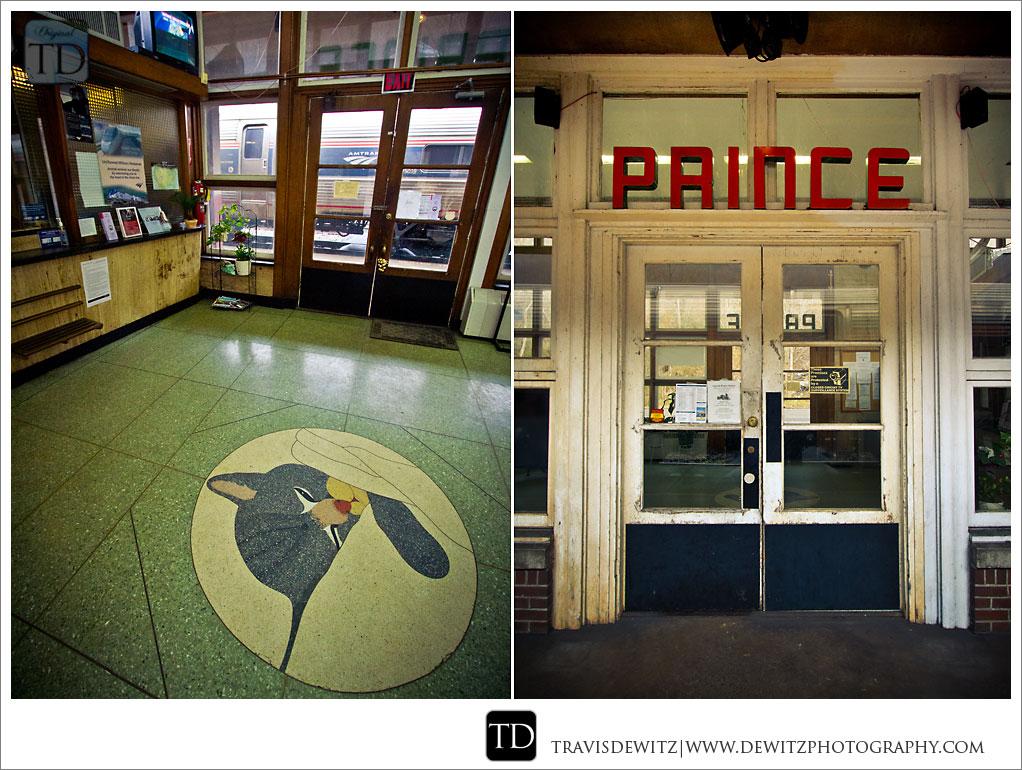 Prince Art Deco Passenger Station - Chessie Logo