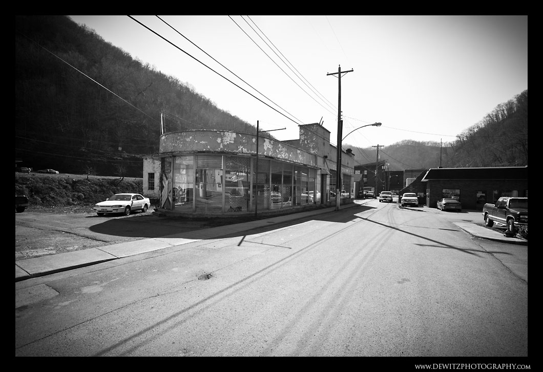 Closed Down Car Dealership in Iaeger WV