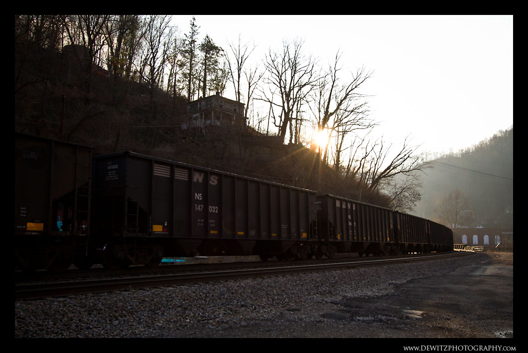 Coal Hoppers Through Northfork West Virginia