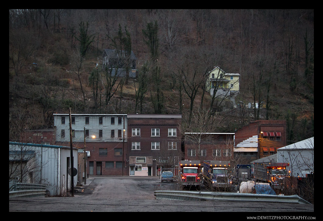 Coal Trucks Start Morning in Keystone WV
