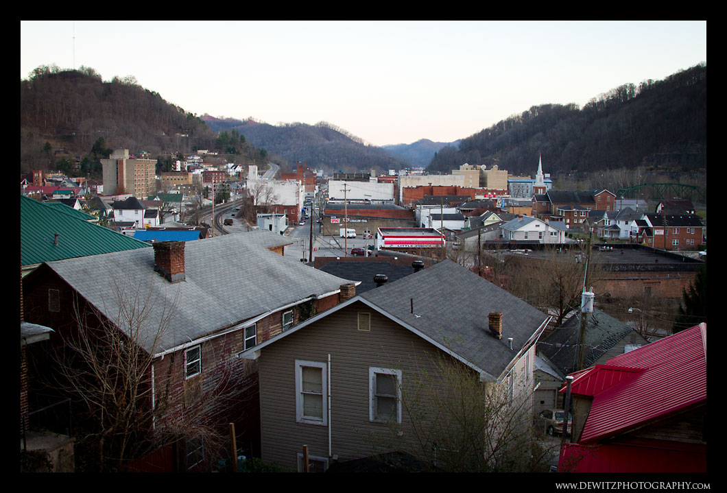 Looking Over Williamson West Virginia
