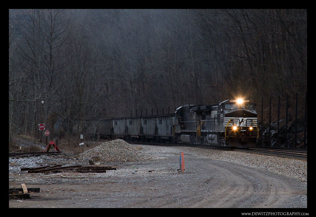 Norfolk Southern Coal Train Near Ennis WV