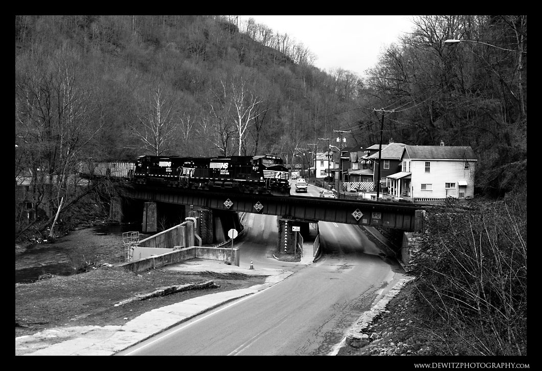 Norfolk Southern Through Welch West Virginia