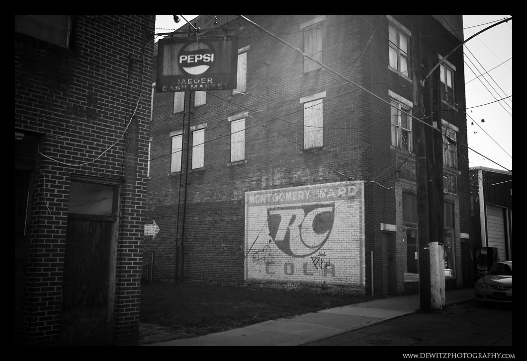 Old RC Cola Painted on Building in Iaeger WV
