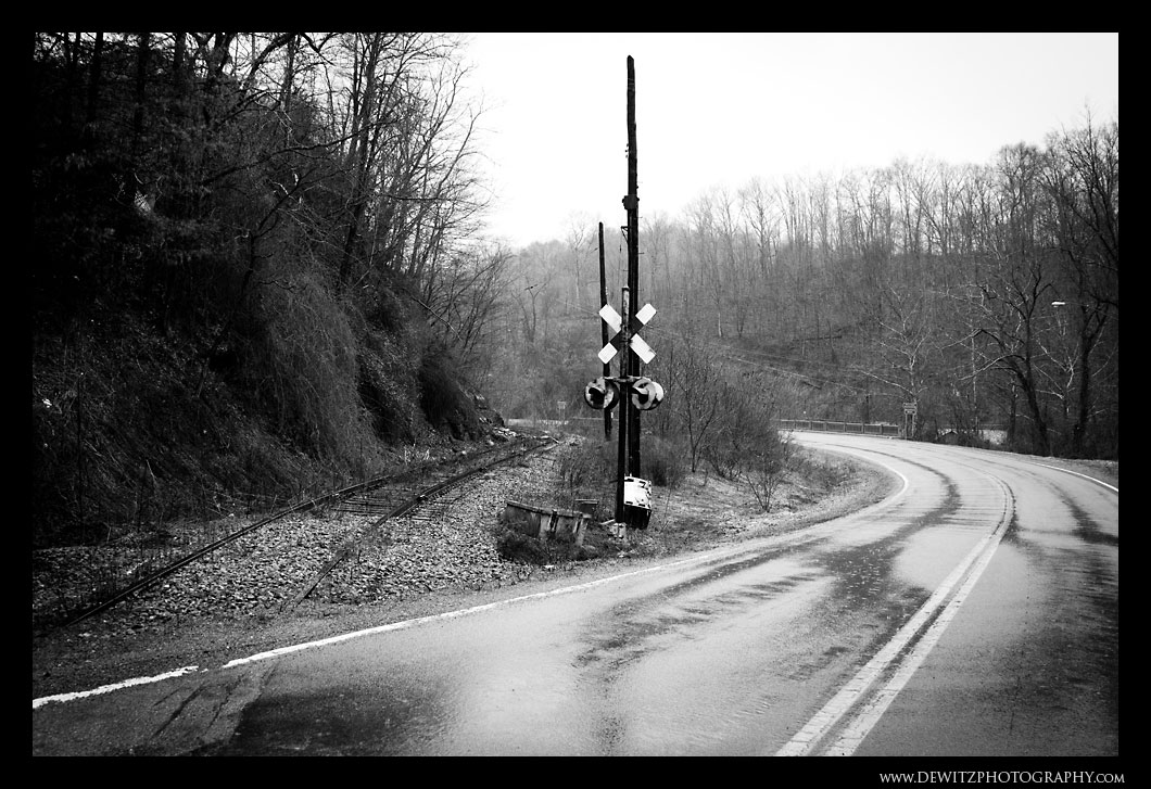 Old Railroad Crossing at Coopers West Virginia