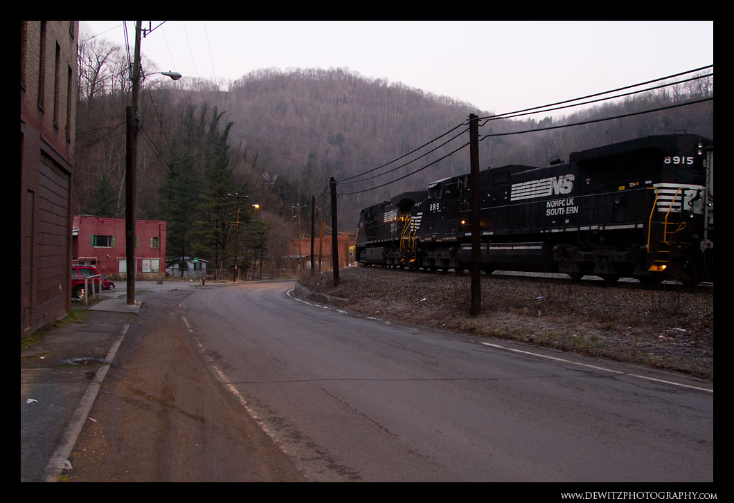 Train Heading Through Keystone WV