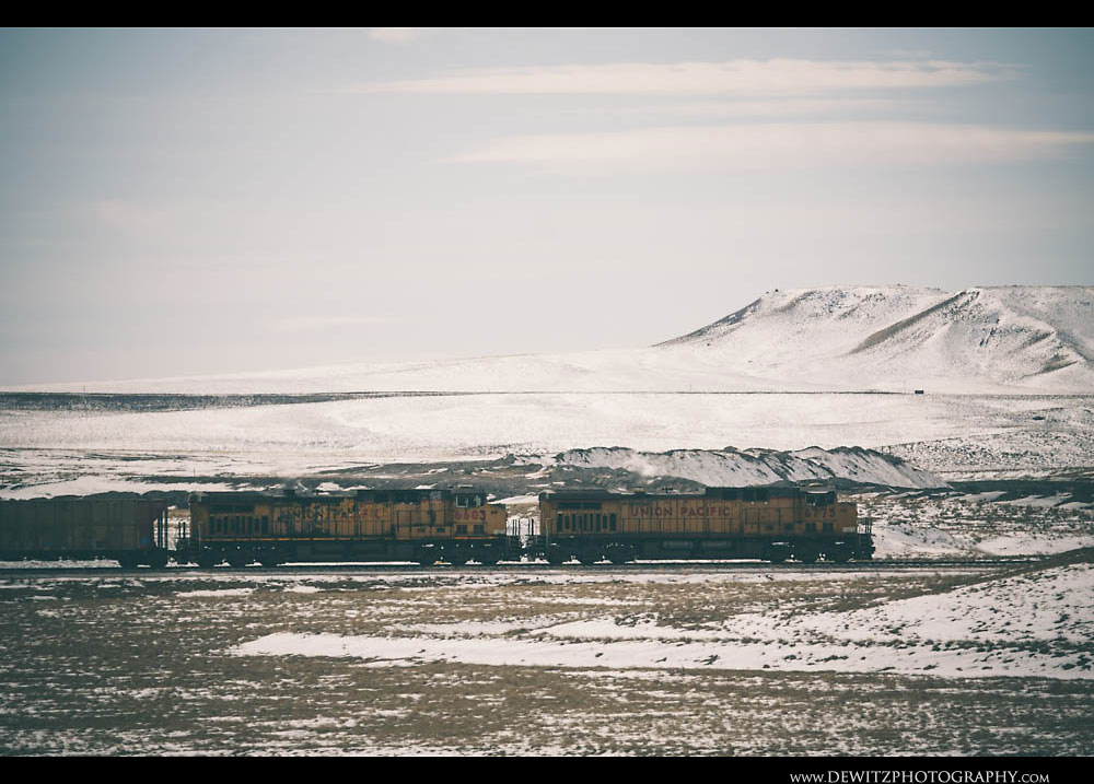 10Union Pacific Coal Train in Powder River Basin Winter