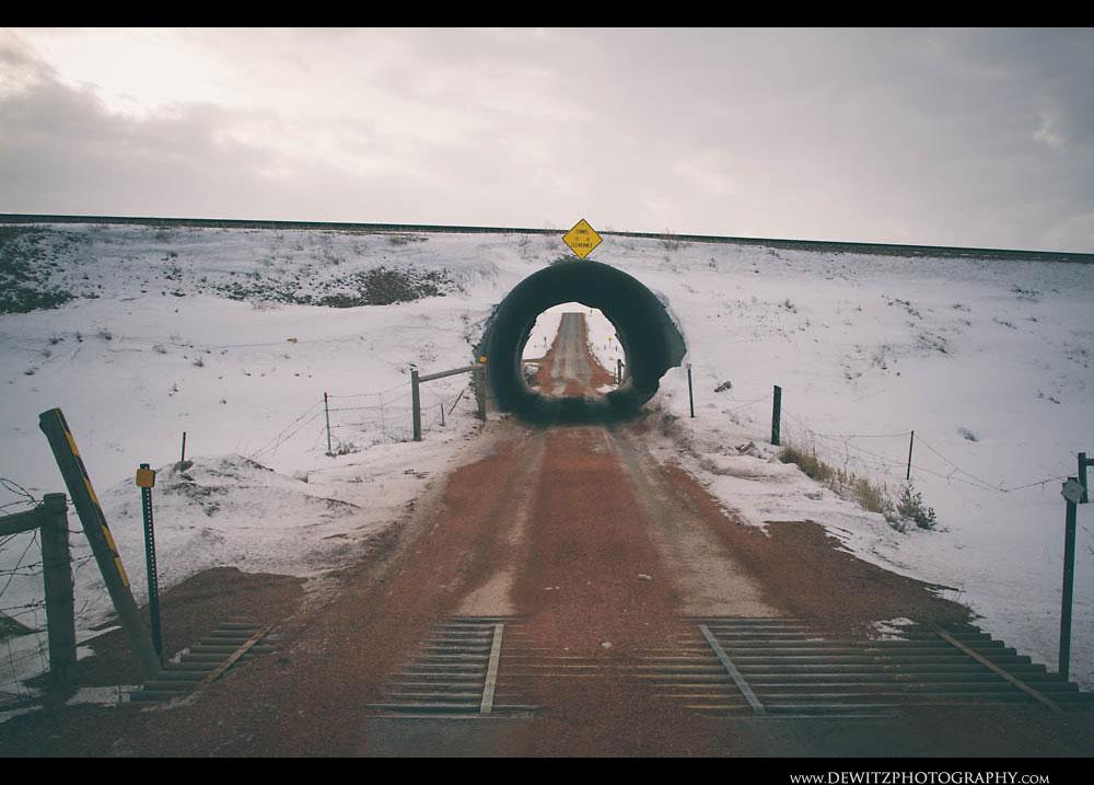 111Circular Tunnel Under Railroad Tracks - Gillette Wyoming