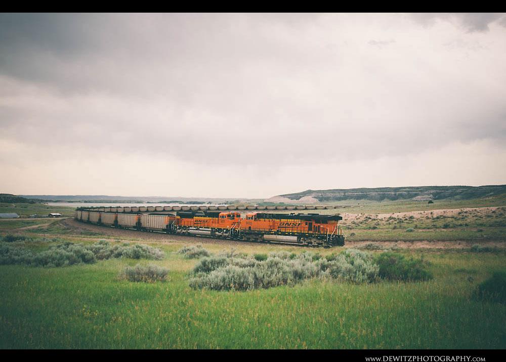 13BNSF Coal Train Near Orin Jct.