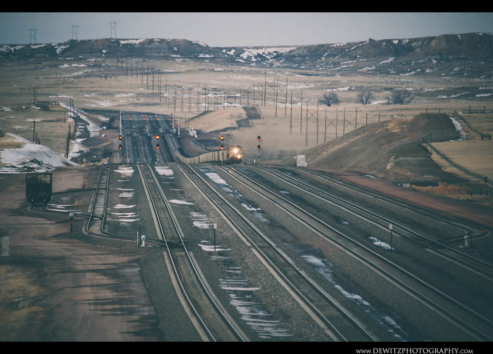 152Union Pacific Train Sweeps Across the Long Rolling Hills