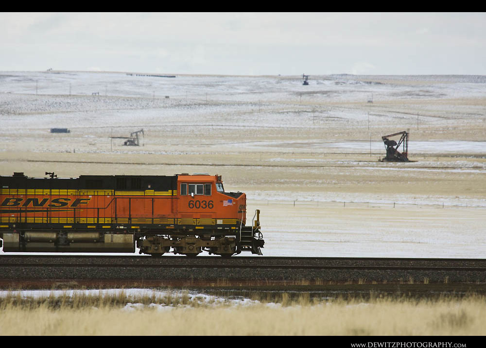 156Oil Jackpumps Dot the Wyoming Landscape Along The BNSF UP Joint Line