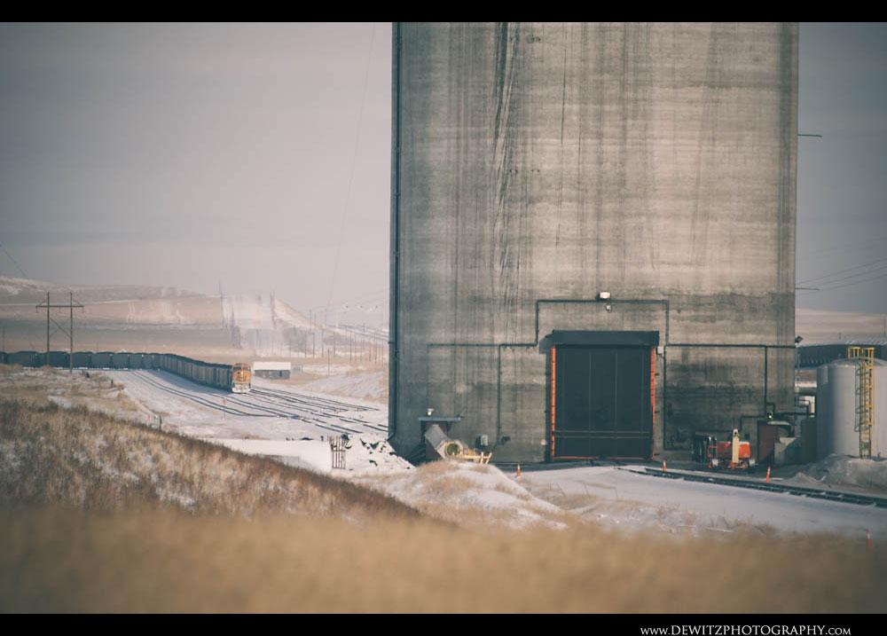 171BNSF Coal Train Sits Outside Black Thunder West Coal Loadout