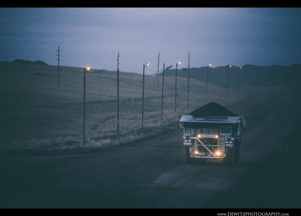 177Coal Haul Dump Truck at Dusk