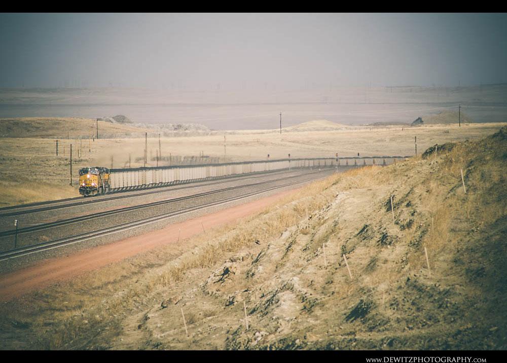 178Union Pacific Coal Train Works Up Logan Hill