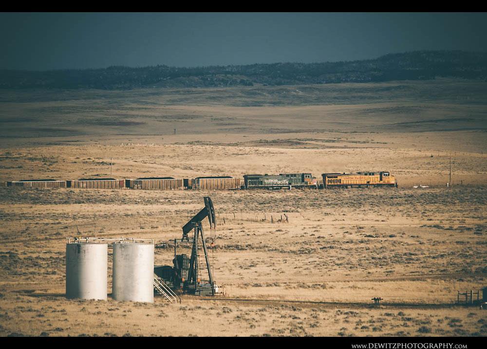 17Coal train and Oil Jackpump