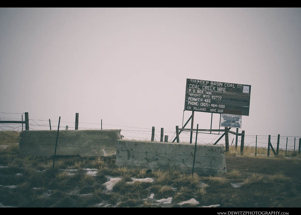 185Old Thunder Basin Coal Company Sign for Coal Creek Mine