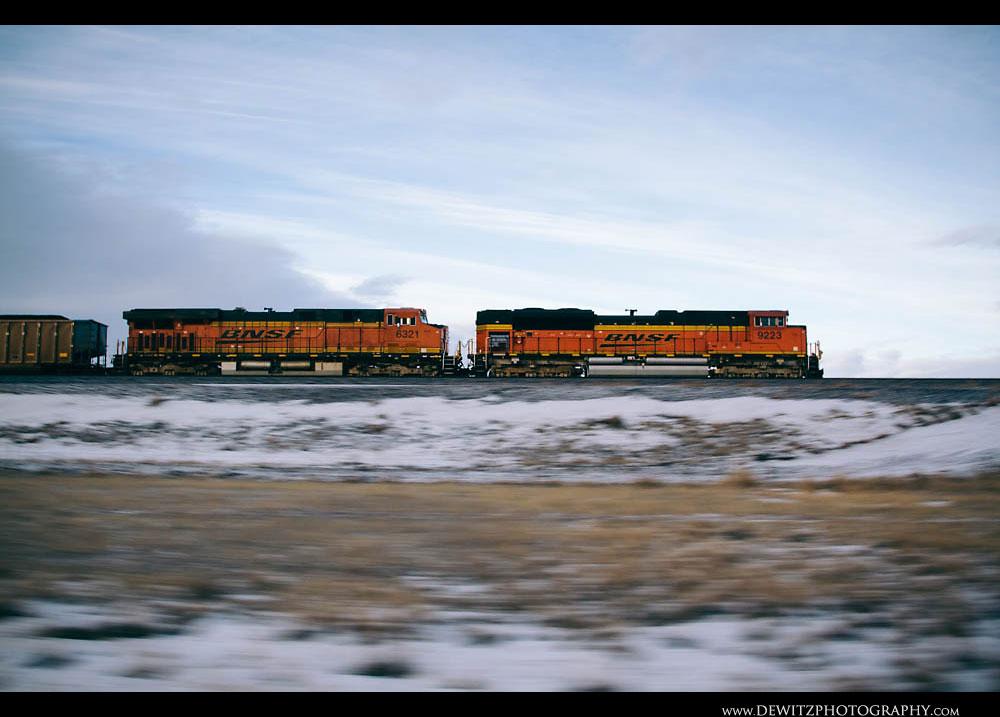 187A BNSF Coal Train Thunders Across the Basin