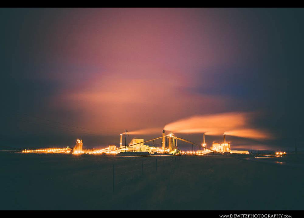 207Wyodak Power Plant at Night