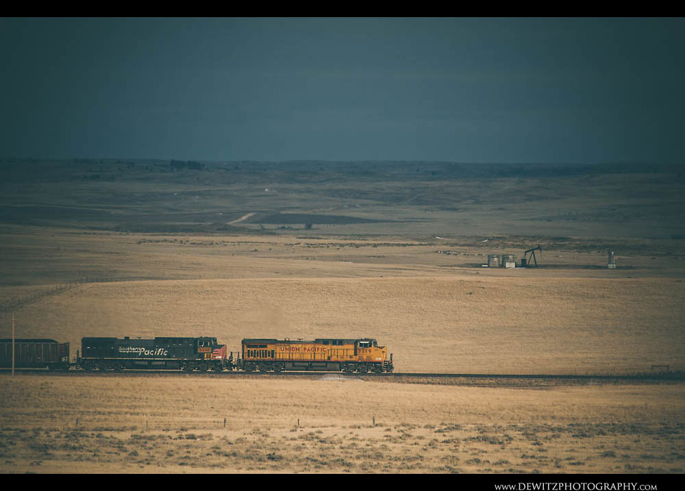 20UP Coal Train South of Bill Wyoming