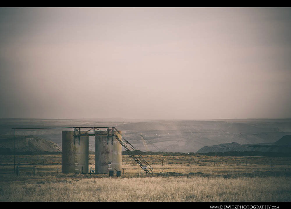 218Tanks Above Open Pit Coal Mine
