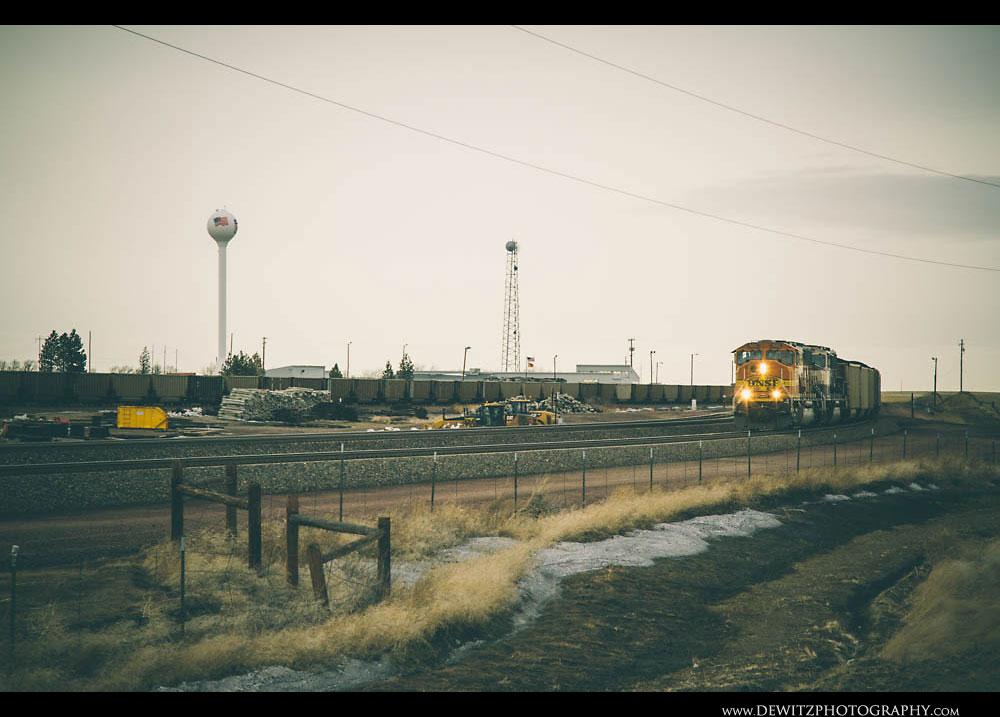243BNSF Train Passes Union Pacifics Bill Yard