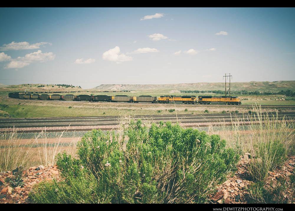 24Loaded Coal Train Leaves North Antelope Mine