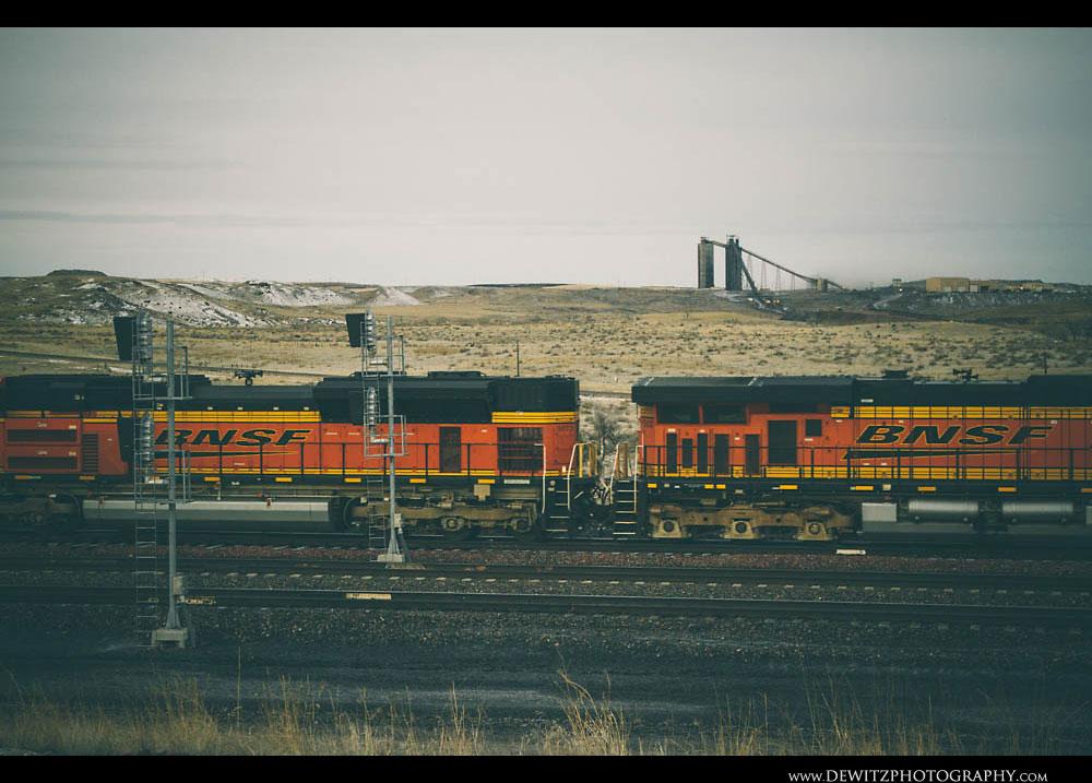 286BNSF Coal Train Near Antelope Mine
