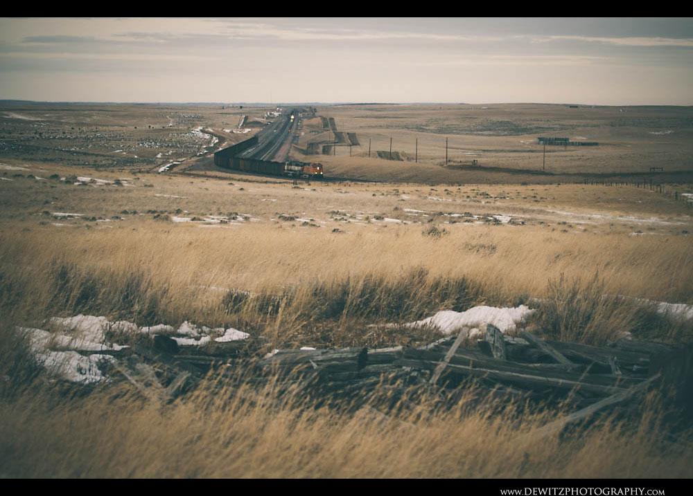 287Coal Trains Leaving the PRB Near Douglas Wyoming