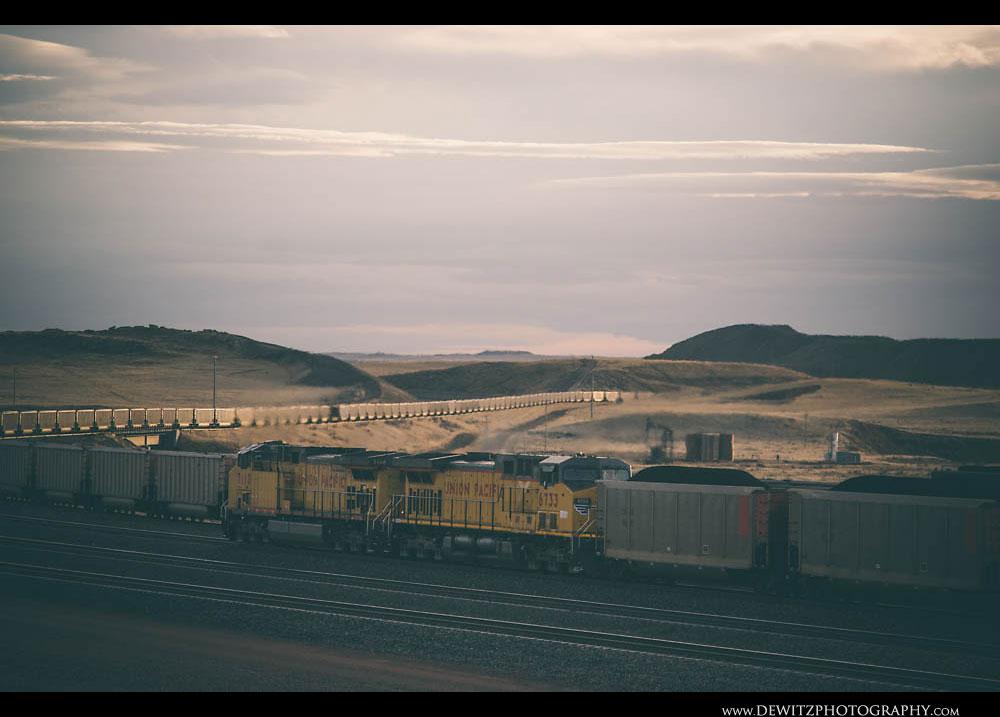 288Trains Meet at Sunset Near Cordero Mine