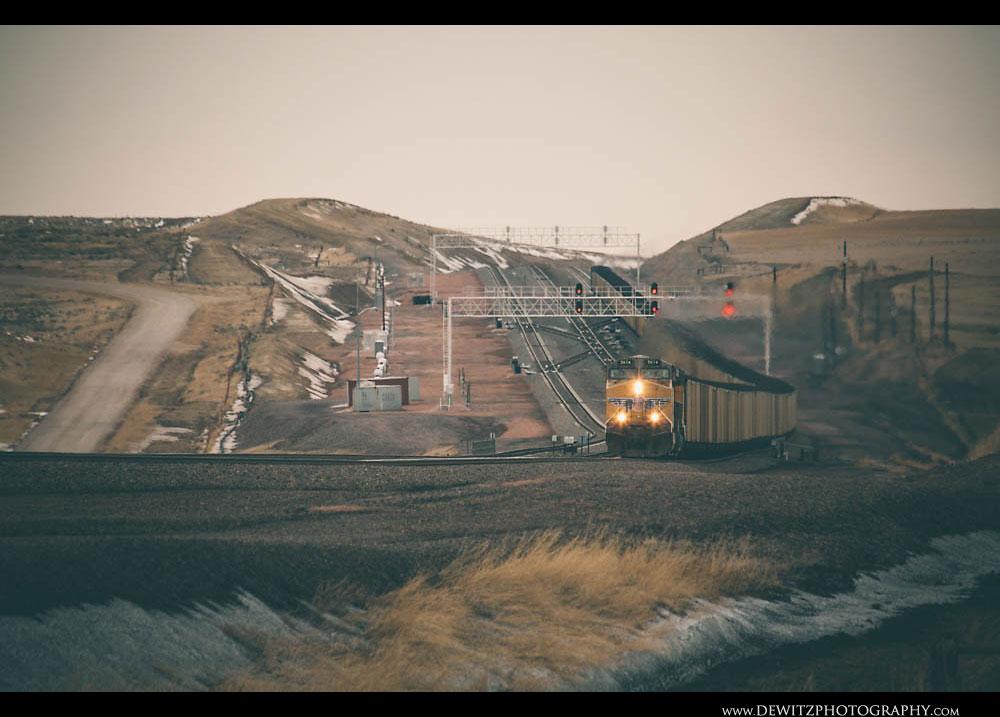 290Union Pacific Coal Train Sails Down Grade