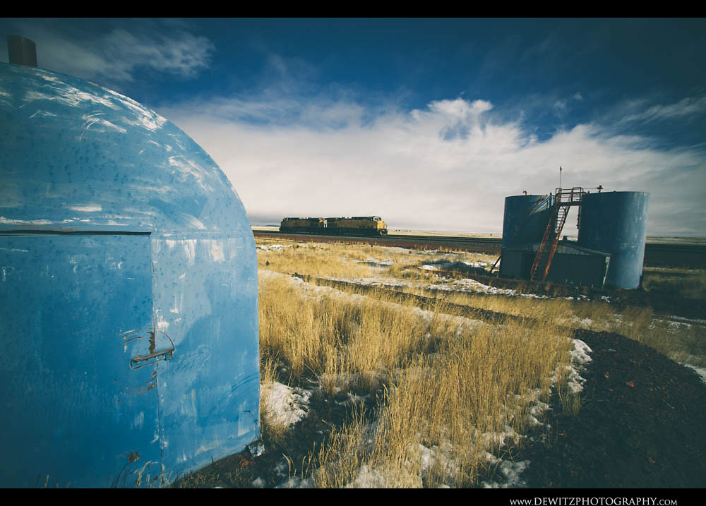 295Blue Storage Tanks Sit Along the Orin Sub Along With a Helper Set