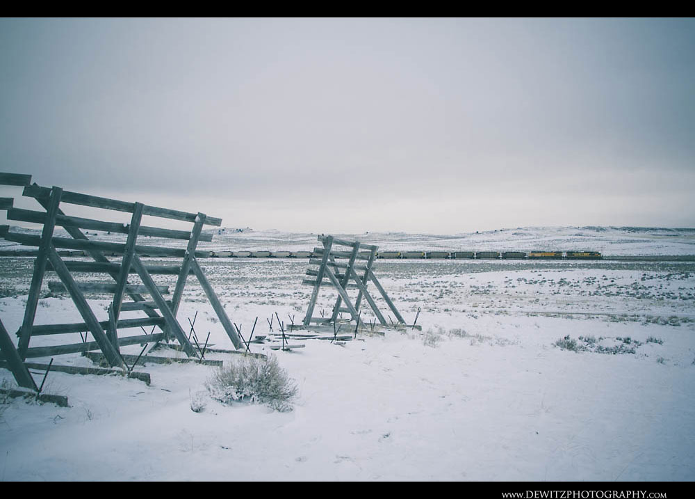300Snow Fences Across Wyoming Landscape