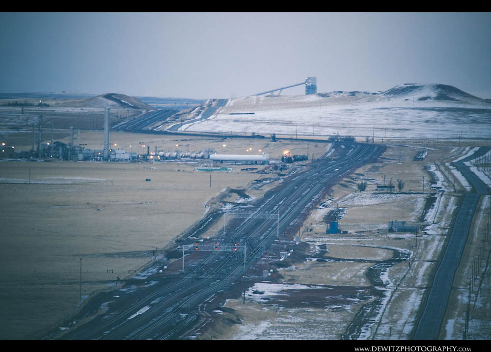 303Black Thunder West Can Be Seen Towering Over the PRB in the Distance and Gas Plant