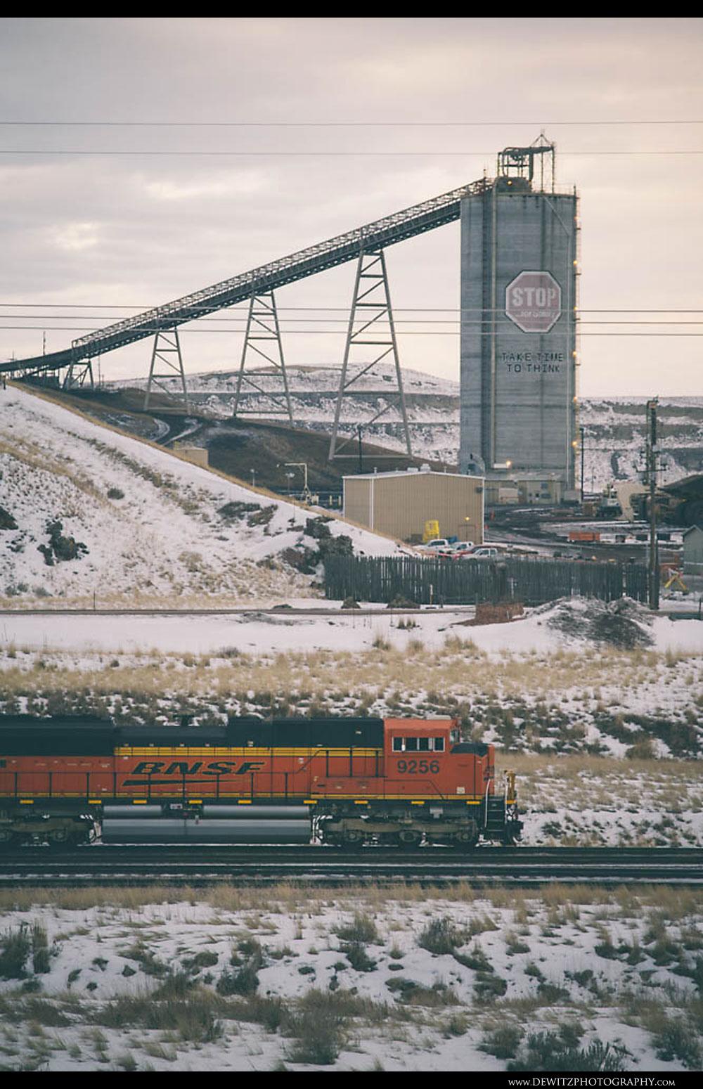 325BNSF Coal train Arrives at the Northern Rawhide Mine