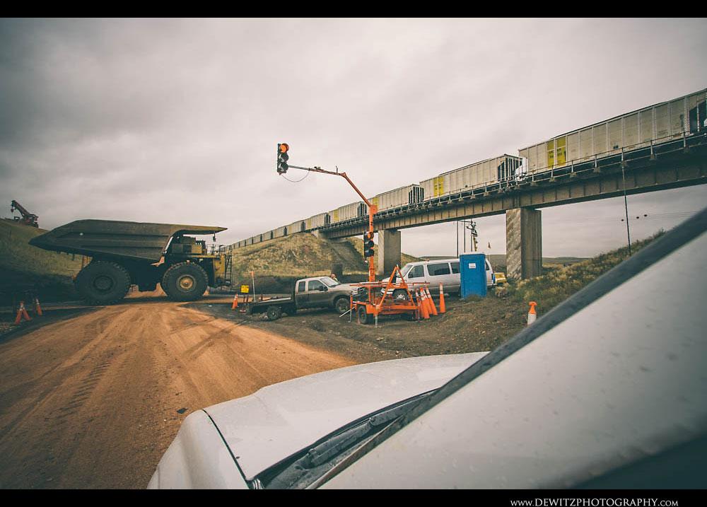 333Clareton Highway Bridge Construction Forces Cars Across Haul Truck Road