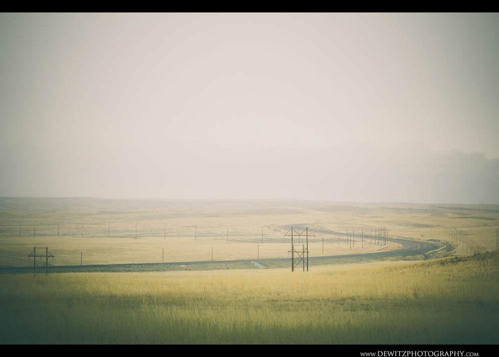341Hazy Sweeping Railroad Tracks