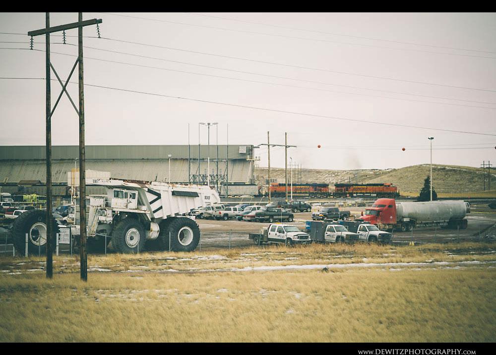 360Old Haul Truck Outside Black Thunder Mine