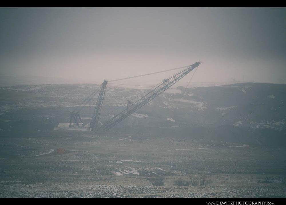 366A Frozen Haze Almost Hides a Huge Coal Dragline