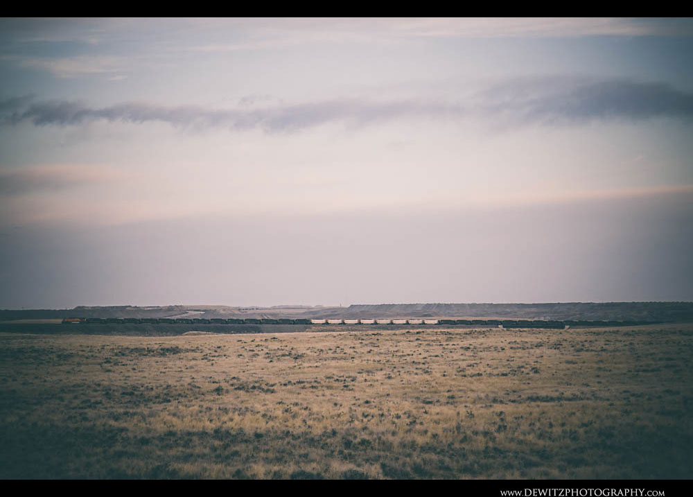 39Mixed Coal hoppers in Powder River Basin