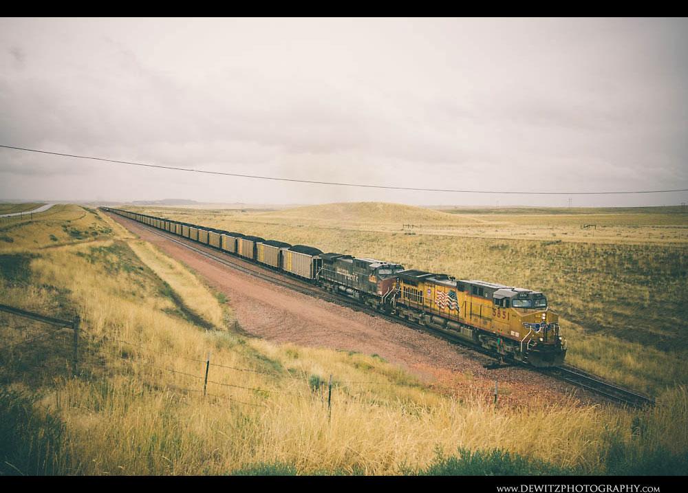 40Loaded Coal Train Leaves Black Thunder South