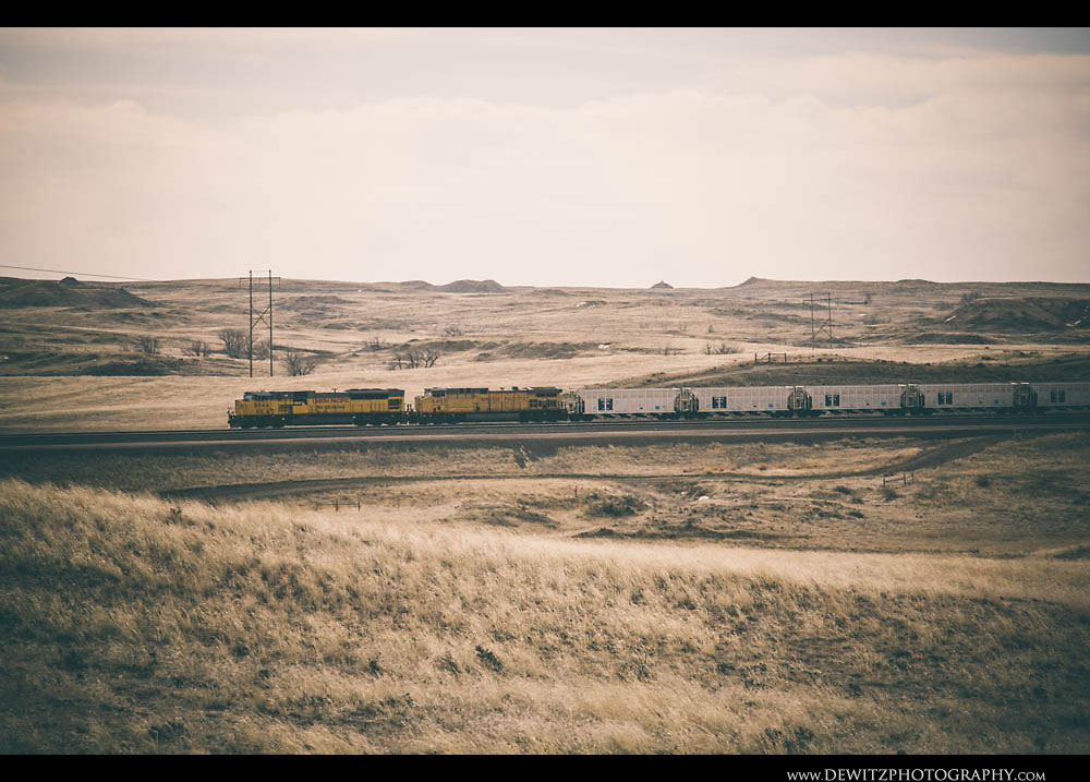41Union Pacific With New Coal Hoppers