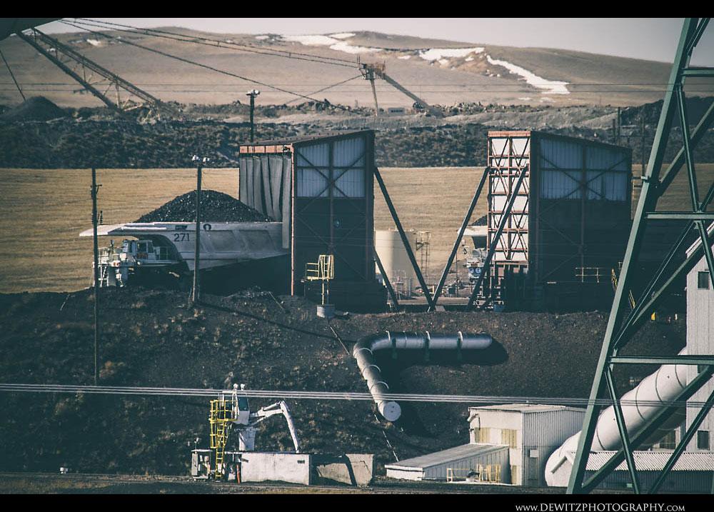 51Coal Haul Truck Dumps Coal Into Crusher