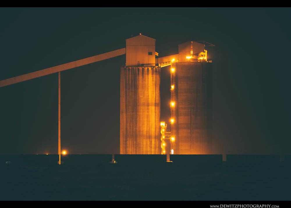 58Coal Silos at Night