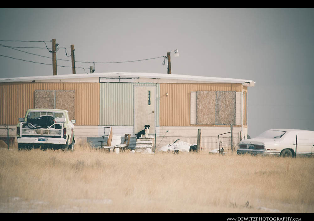 78Dog Sits at Front Door in the Powder River Basin
