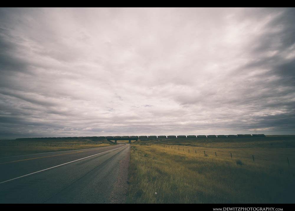 83UP Coal Train Crosses Wyoming Highway 59