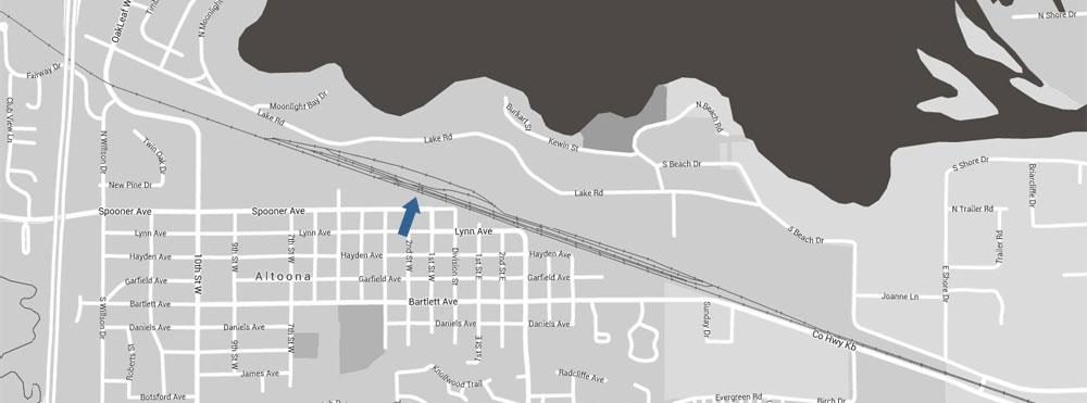Altoona Railroad Location Map 1