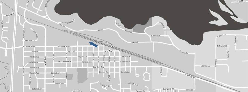 Altoona Railroad Location Map 2