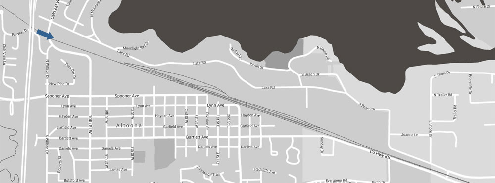 Altoona Railroad Location Map 4