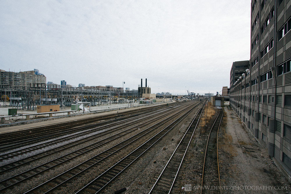 The Infrastructure that Feeds Chicago Union Station - Empty Train Tracks to Union Station