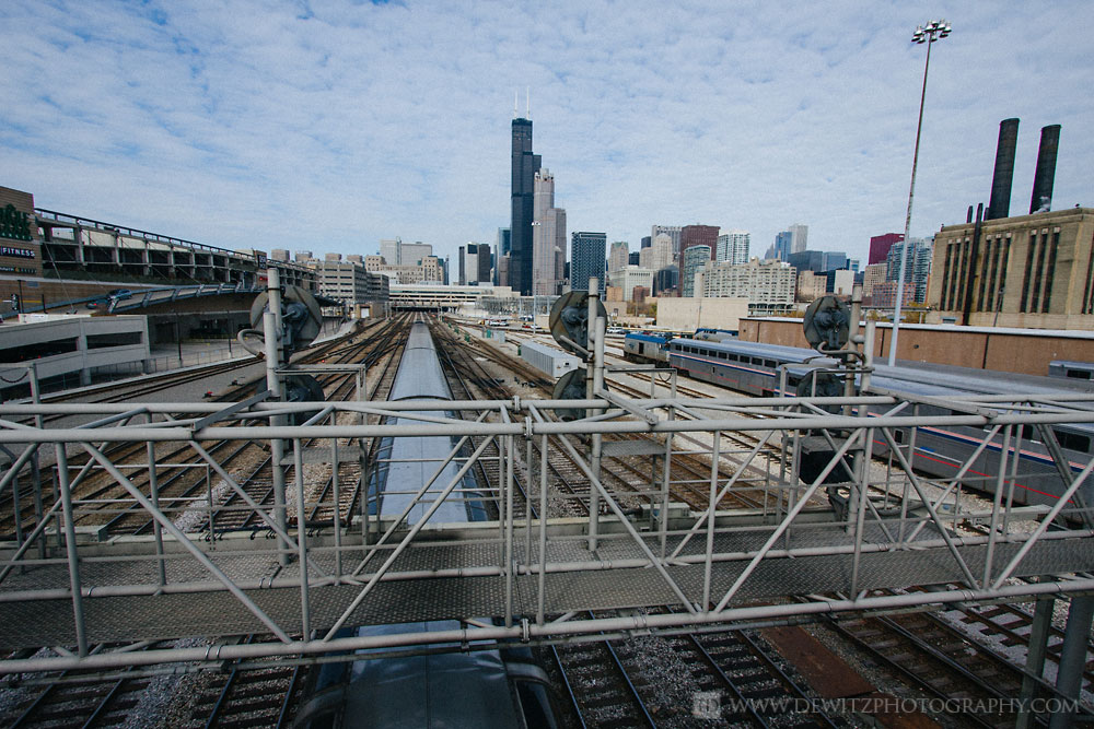 The Infrastructure that Feeds Chicago Union Station - Signal Bridge Outside Union Station Under Sears Tower